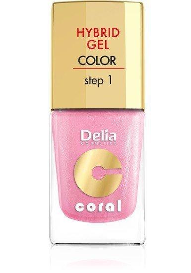Delia Cosmetics Coral Hybrid Gel Emalia do paznokci nr 31 perłowy róż 11ml