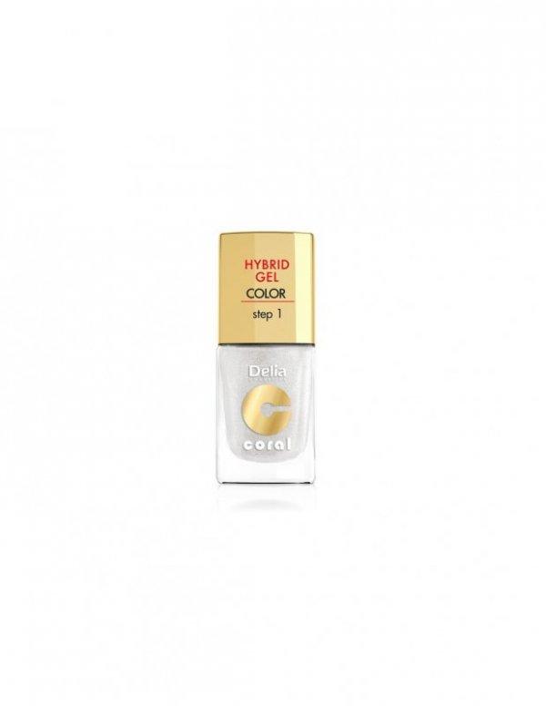 Delia Cosmetics Coral Hybrid Gel Emalia do paznokci nr 32 biały perłowy 11ml