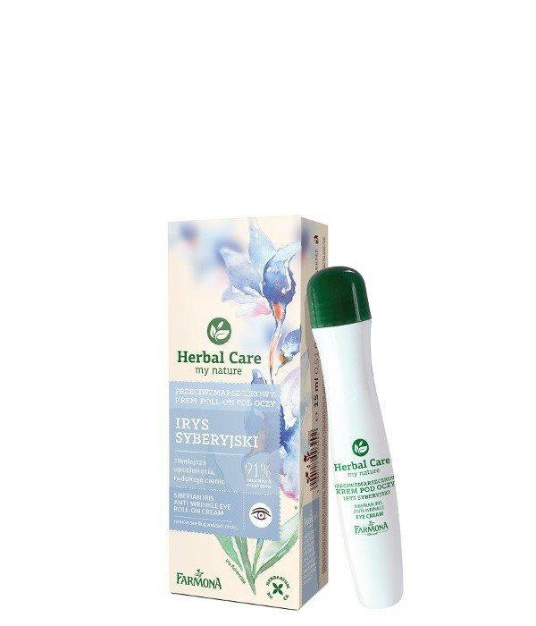 Farmona Herbal Care Krem roll-on pod oczy przeciwzmarszczkowy Irys Syberyjski  15ml