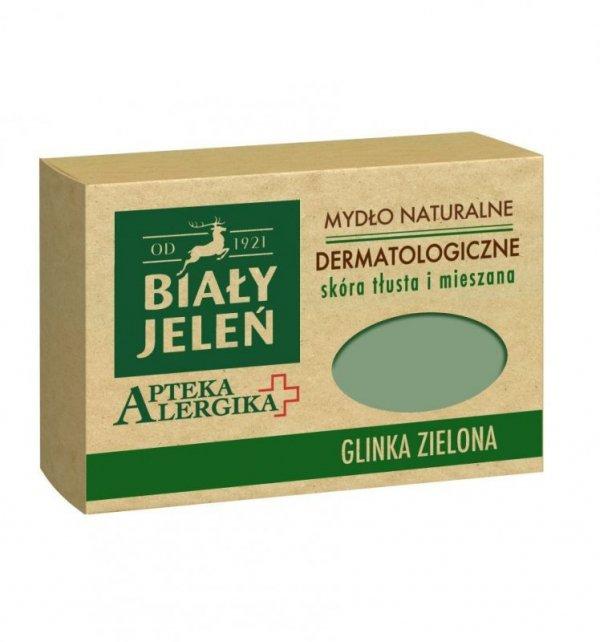 Biały Jeleń Apteka Alergika Mydło naturalne Glinka Zielona - skóra tłusta i mieszana  125g