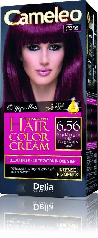 Delia Cosmetics Cameleo HCC Farba permanentna Omega+ nr 6.56 Deep Mahogany Red  1op.