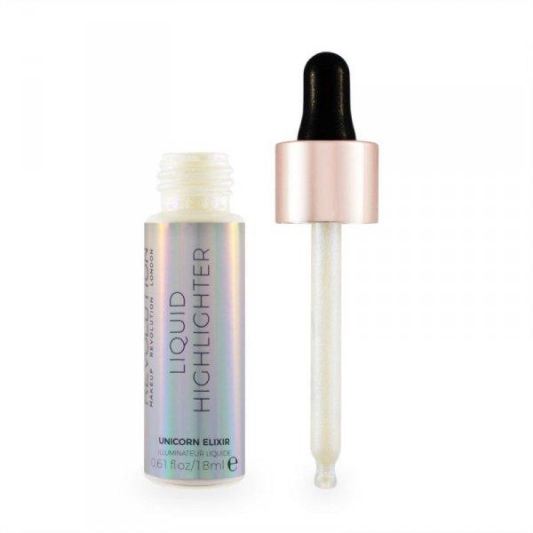 Makeup Revolution Liquid Highlighter Rozświetlacz w płynie Unicorn Elixir  18ml