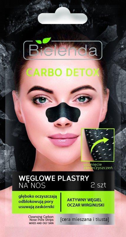 Bielenda Carbo Detox Czarny Węgiel Plastry oczyszczające na nos  1op.-2szt