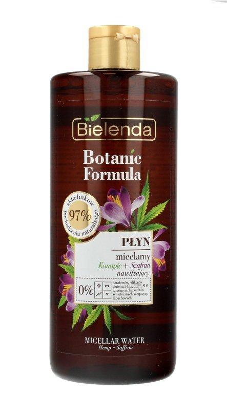 Bielenda Botanic Formula Olej z Konopi+Szafran Nawilżający Płyn micelarny do twarzy  500ml