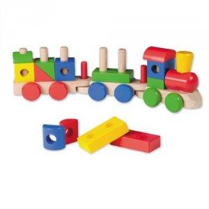 Drewniana kolejka/pociąg z klockami