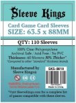 Sleeve Kings Card Game Card Sleeves (63.5x88mm) - 110 Pack, 60 Microns