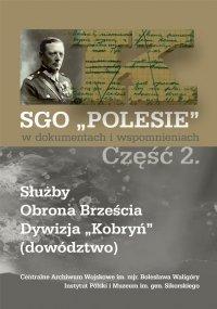 SGO Polesie t. II Służby, obrona Brześcia, Dywizja Kobryń (dowództwo)