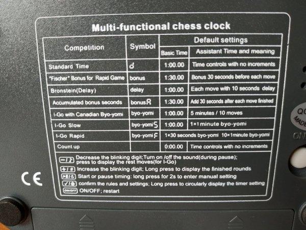 Zegar szachowy JS-230A firmy JUNSD