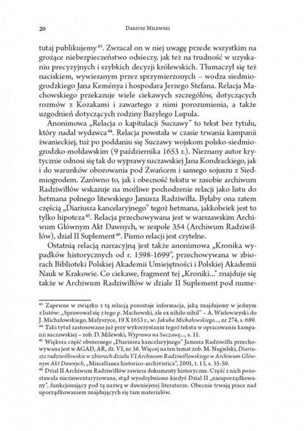 Kampania żwaniecka 1653 roku. Diariusze i relacje wojenne
