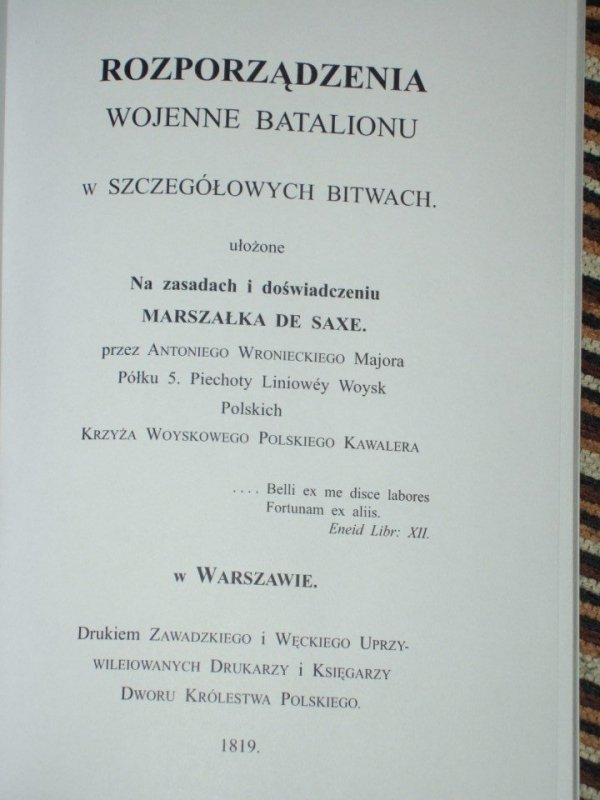 Rozporządzenia wojenne batalionu w szczegółowych bitwach
