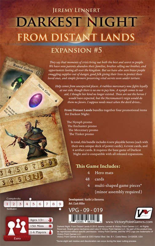 Darkest Night Expansion #5: From Distant Lands