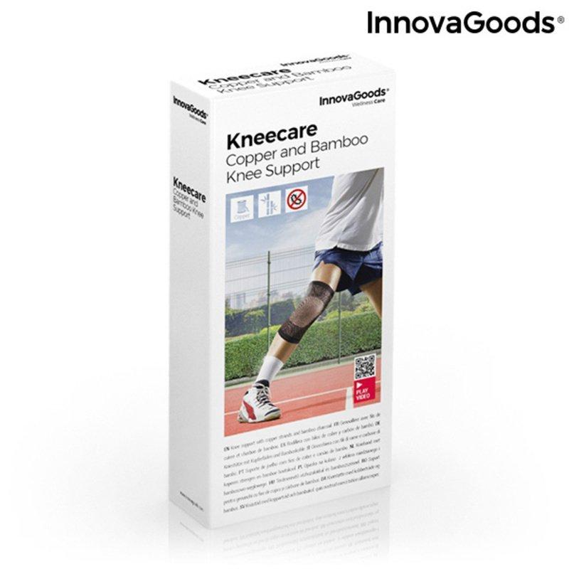 Opaska na kolano z włóknami miedzi i bambusa z dodatkiem węgla Kneecare InnovaGoods
