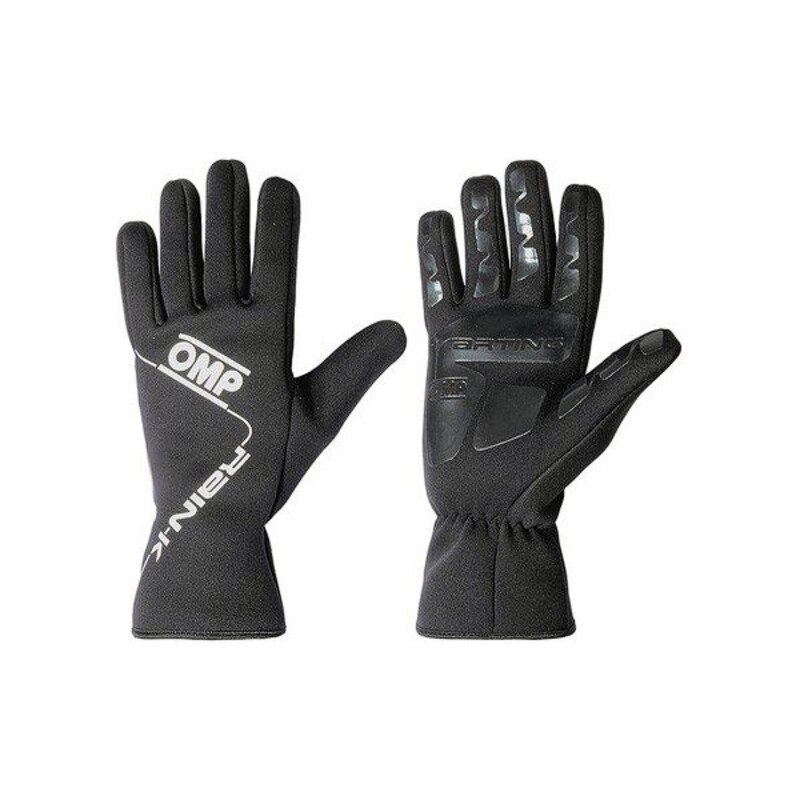 Męskie rękawice do jazdy OMP Rain K Czarny