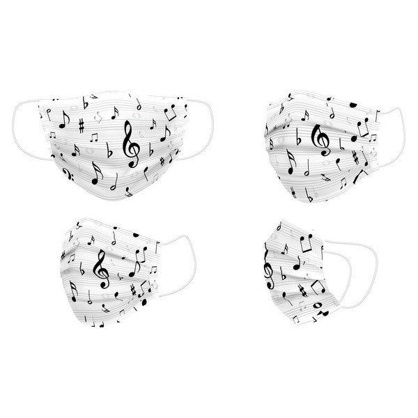 Maska higieniczna materiałowa wielokrotnego użytku Music Dorosły