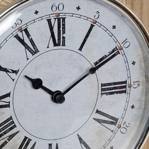 Stolné hodiny DKD Home Decor Naturalny Drewno Metal (19 x 5 x 25 cm)