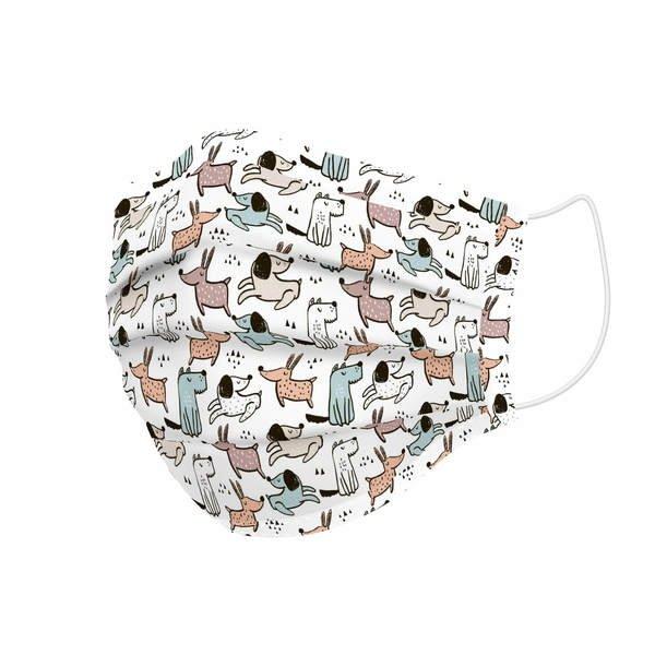 Maska higieniczna materiałowa wielokrotnego użytku Dogs Dziecięcy
