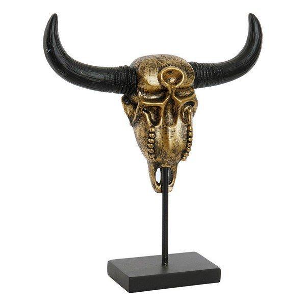 Figurka Dekoracyjna DKD Home Decor Czaszka Metal Żywica (30 x 8 x 34 cm)