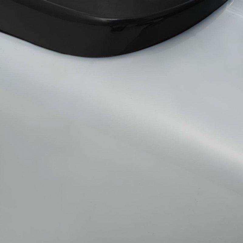 Samochód jeździk retro z drążkiem do pchania, szary