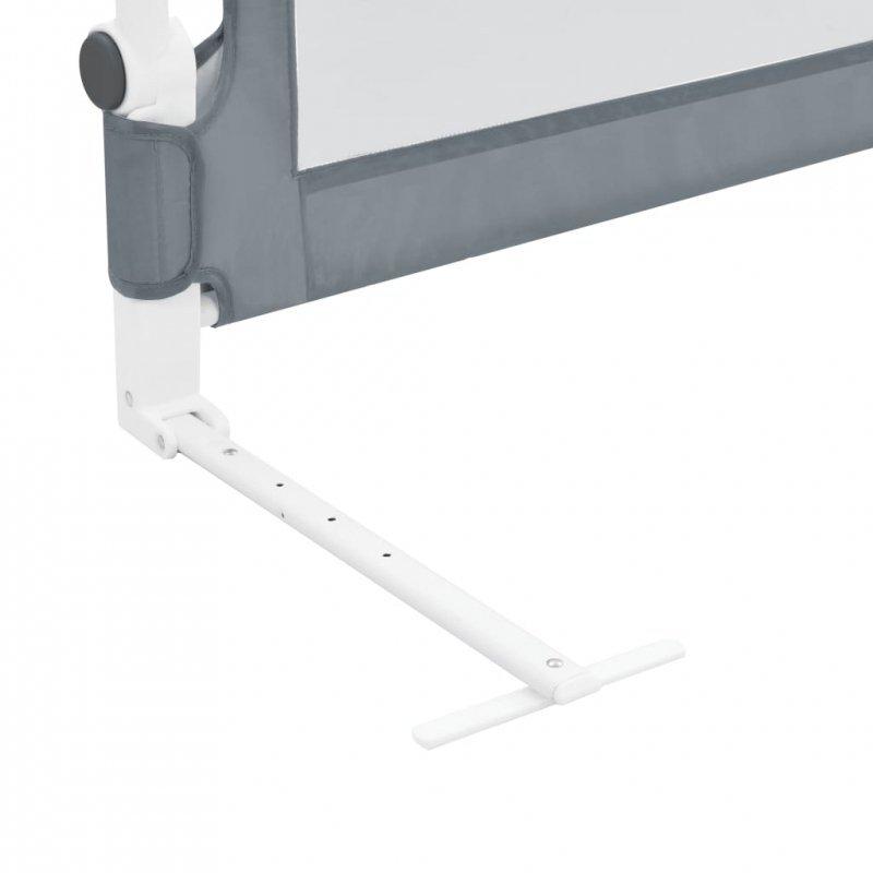 Barierka do łóżeczka dziecięcego, szara, 180x42 cm, poliester