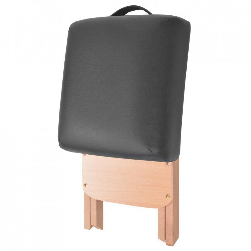 Składany stół do masażu i stołek, dwuczęściowy, grubość 10 cm