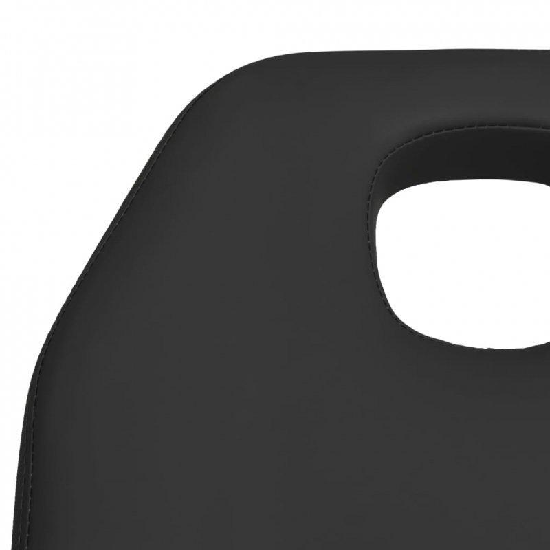Stół do masażu, czarny, 180x62x(87-112) cm