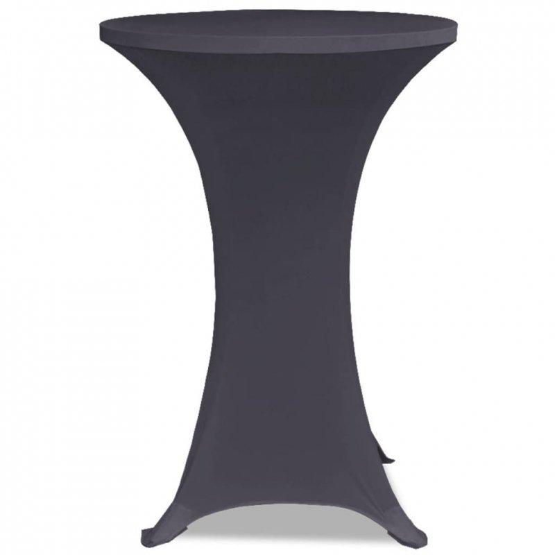 Elastyczne nakrycie stołu antracytowe 2 szt. 60 cm