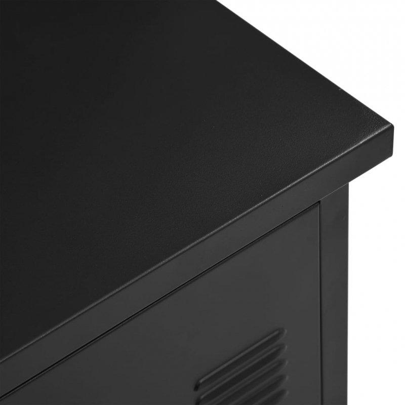 Biurko w stylu industrialnym, czarne, 120 x 55 x 75 cm, stal
