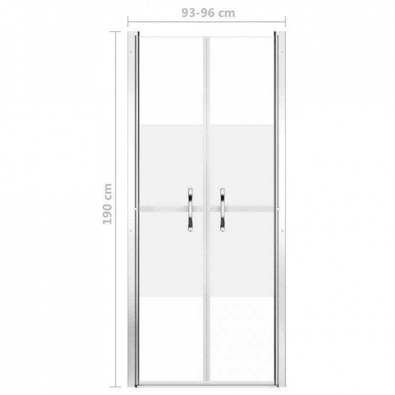 Drzwi prysznicowe, szkło częściowo mrożone, ESG, 96x190 cm
