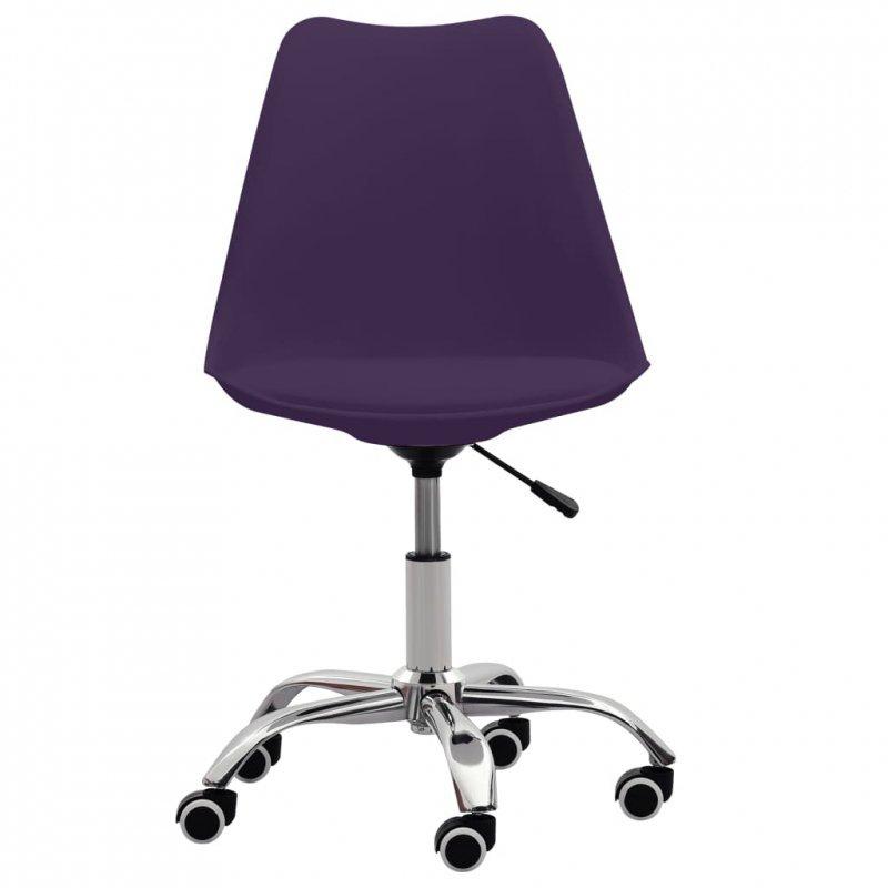 Krzesła biurowe, 2 szt., fioletowe, sztuczna skóra