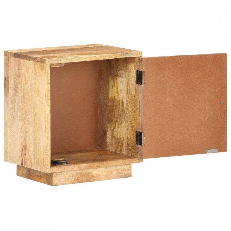Szafka nocna, 40x30x45 cm, lite drewno mango