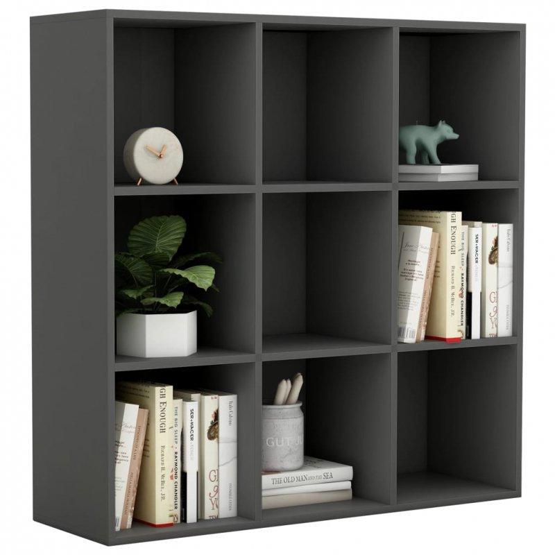 Regał na książki, szary, 98 x 30 x 98 cm, płyta wiórowa