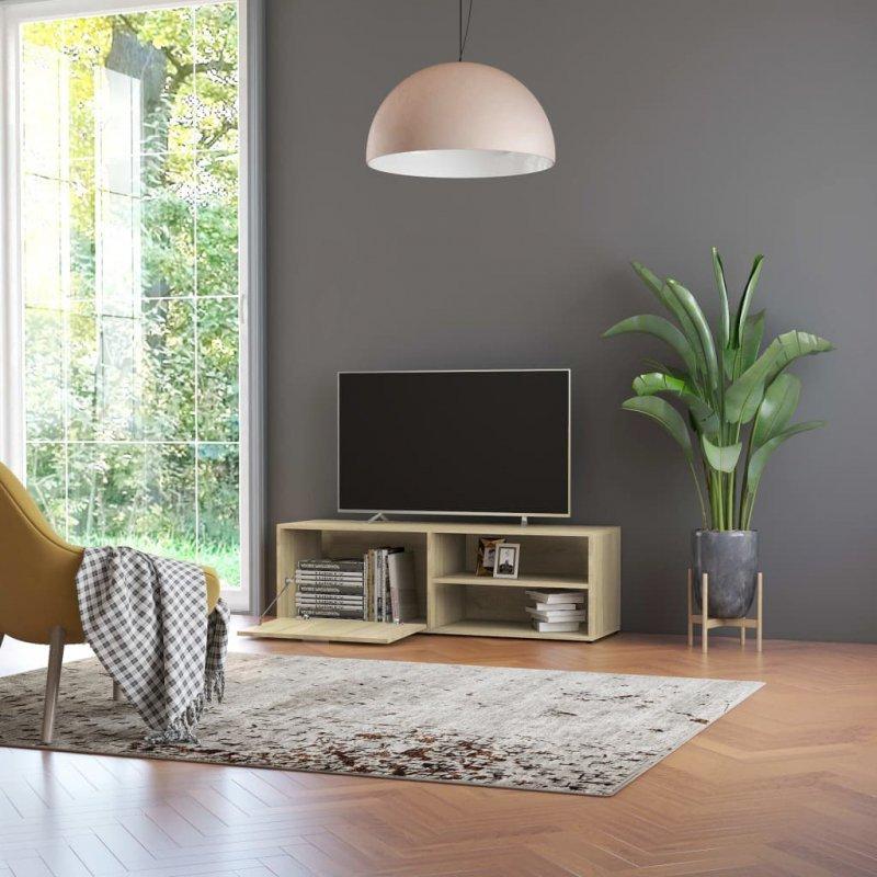 Szafka pod TV, dąb sonoma, 120x34x37 cm, płyta wiórowa