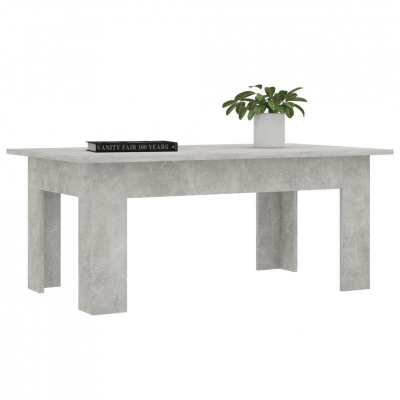 Stolik kawowy, betonowy szary, 100x60x42 cm, płyta wiórowa