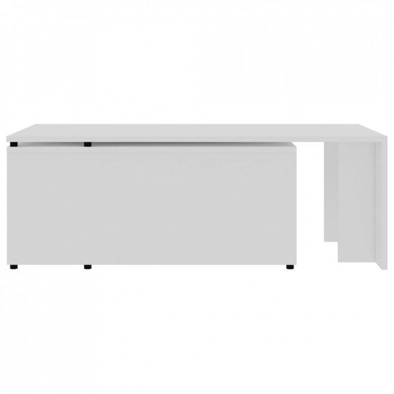 Stolik kawowy, biały, 150x50x35 cm, płyta wiórowa