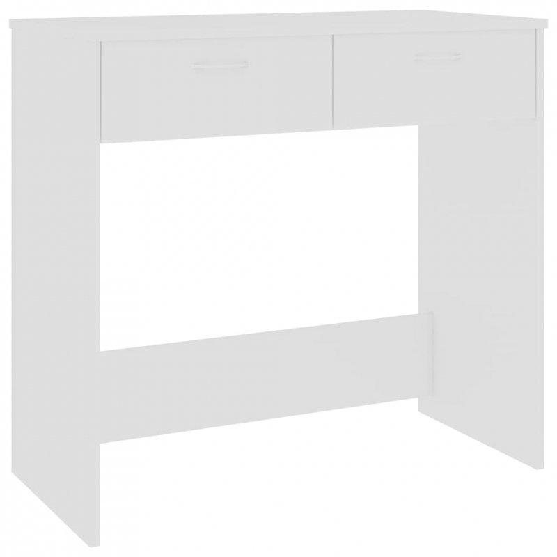 Biurko, białe, 80x40x75 cm, płyta wiórowa
