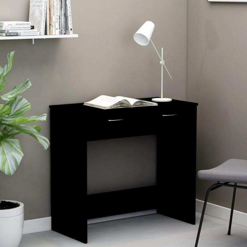 Biurko, czarne, 80x40x75 cm, płyta wiórowa
