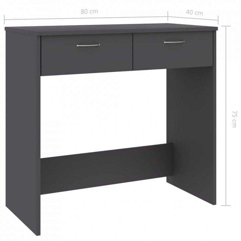 Biurko, szare, 80x40x75 cm, płyta wiórowa