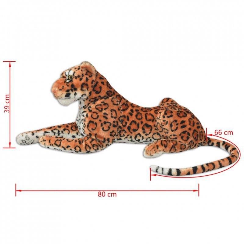 Pluszowy leopard XXL brązowy