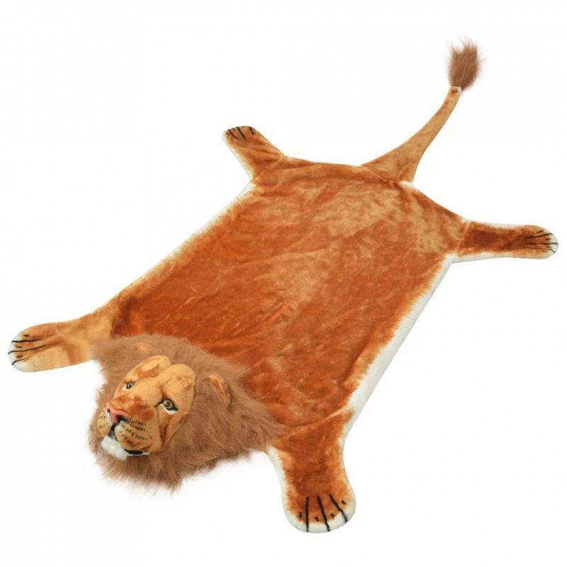 Pluszowy dywan, lew, brązowy, 205 cm