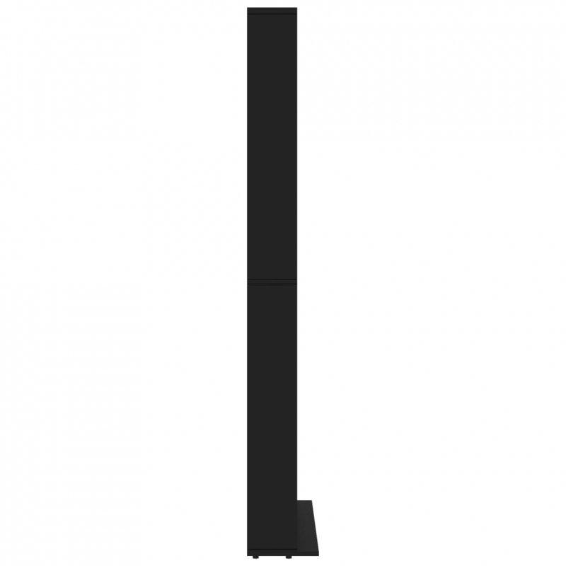 Szafka na płyty CD, czarna, 102 x 23 x 177,5 cm, płyta wiórowa