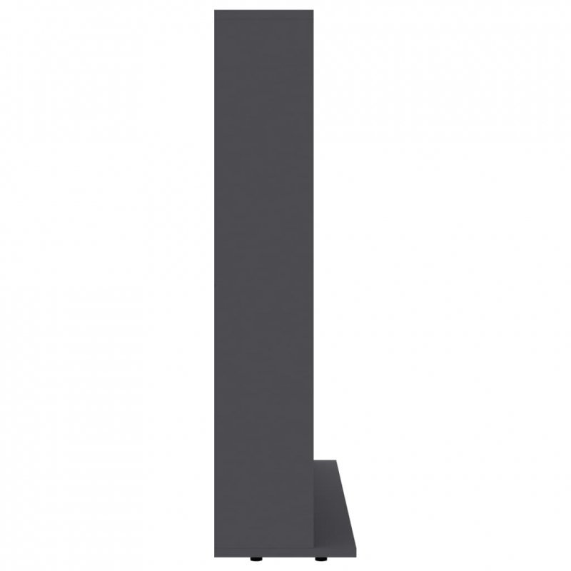 Szafka na płyty CD, szara, 102 x 23 x 89,5 cm, płyta wiórowa