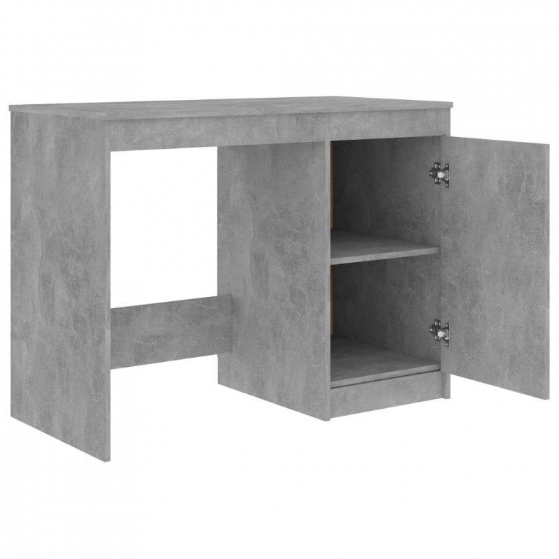Biurko, szarość betonu, 100x50x76 cm, płyta wiórowa