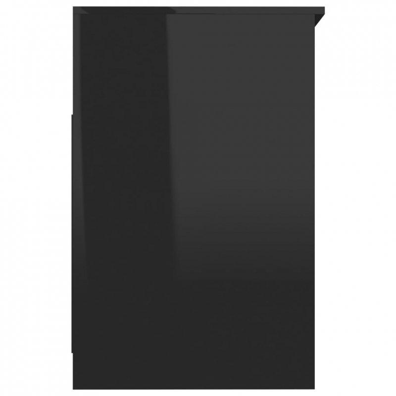 Komoda, czarna na wysoki połysk, 40x50x76 cm, płyta wiórowa