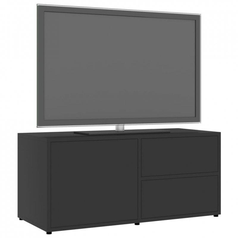 Szafka pod TV, szara, 80x34x36 cm, płyta wiórowa