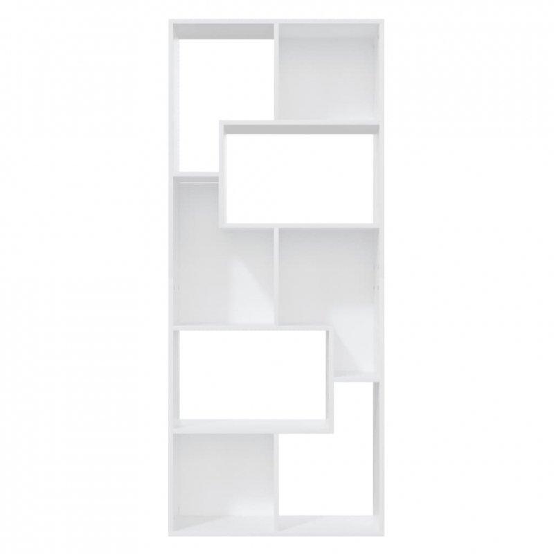 Regał na książki, biały, 67x24x161 cm, płyta wiórowa