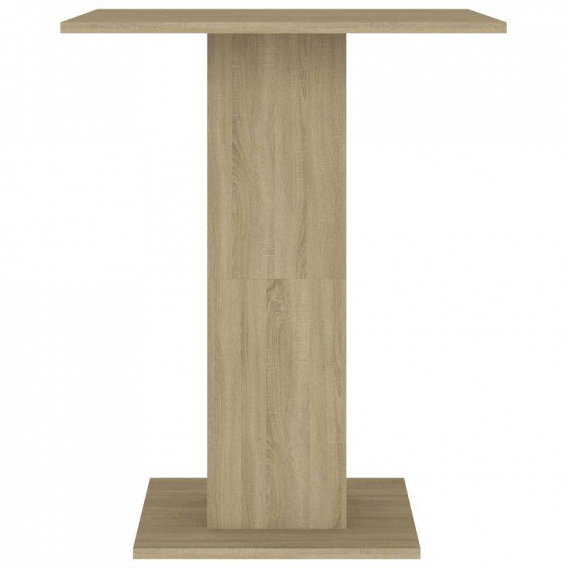 Stolik bistro, dąb sonoma, 60x60x75 cm, płyta wiórowa