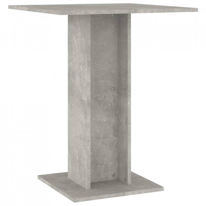 Stolik bistro, szarość betonu, 60x60x75 cm, płyta wiórowa