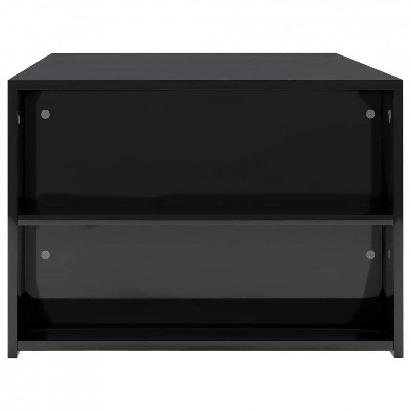 Stolik kawowy, wysoki połysk, czarny 100x60x42cm, płyta wiórowa