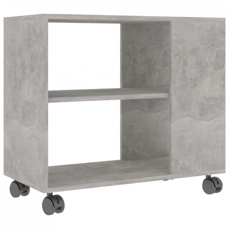 Stolik boczny, szarość betonu, 70x35x55 cm, płyta wiórowa