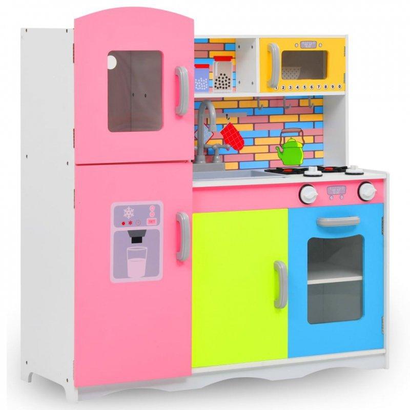 Zabawkowa kuchnia, MDF, 80 x 30 x 85 cm, wielokolorowa